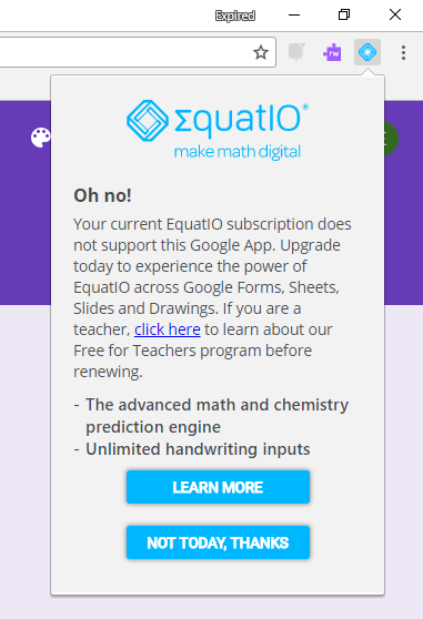 Equatio error