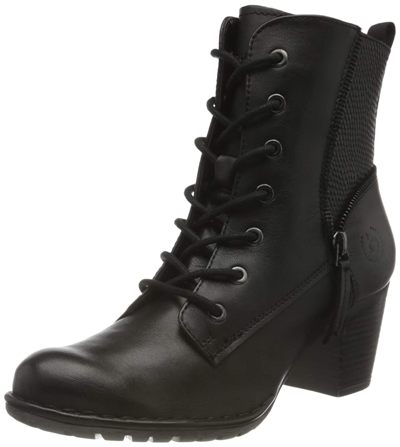 Bugatti Black/REPTIL Print Women Ankle Boot
