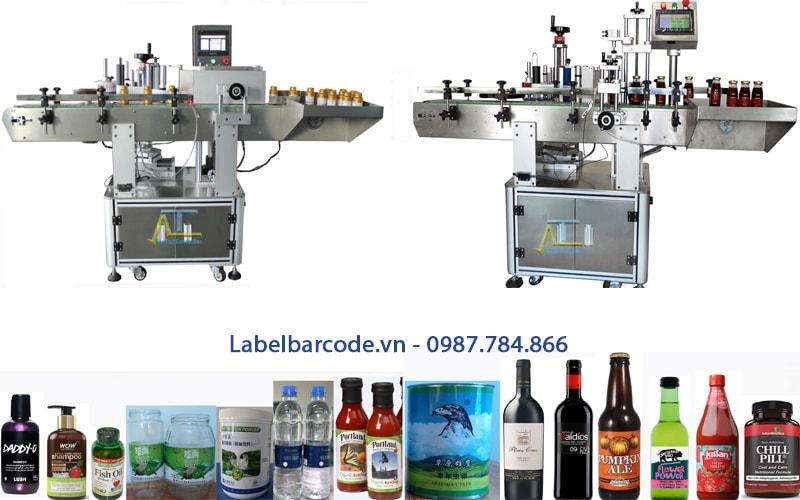 Máy dán nhãn chai tròn dán nhãn đầy đủ kích thước nhãn chai