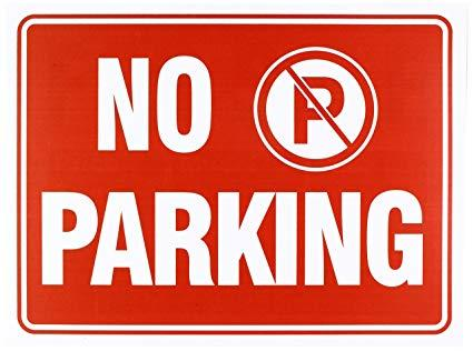 Image result for no parking sign
