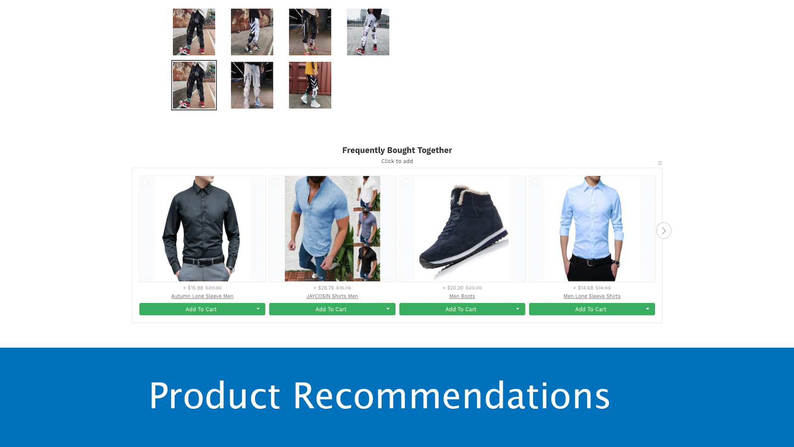 Upsell with Product Recommendations
