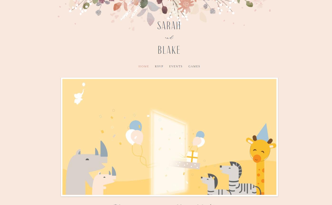 webbabyshower minted baby shower website