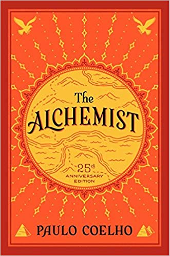 Cover of 'The Alchemist' by Paulo Coehlo