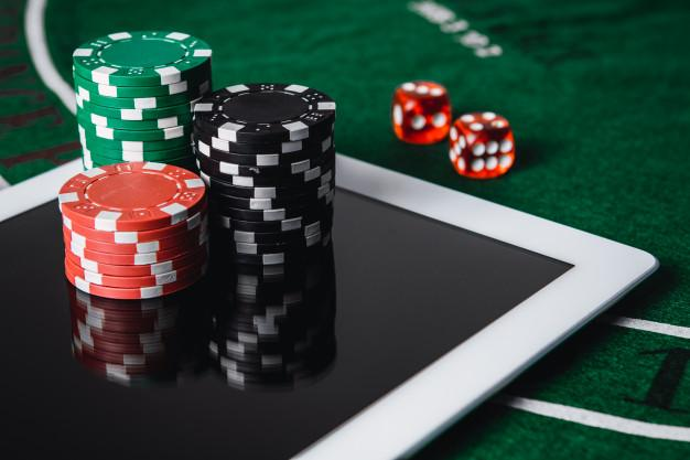 Premium Photo | Play poker online. online casino - online gambling concept