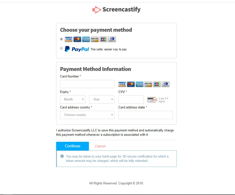 Screencastify checkout page | Apply Screencastify Promo Codes