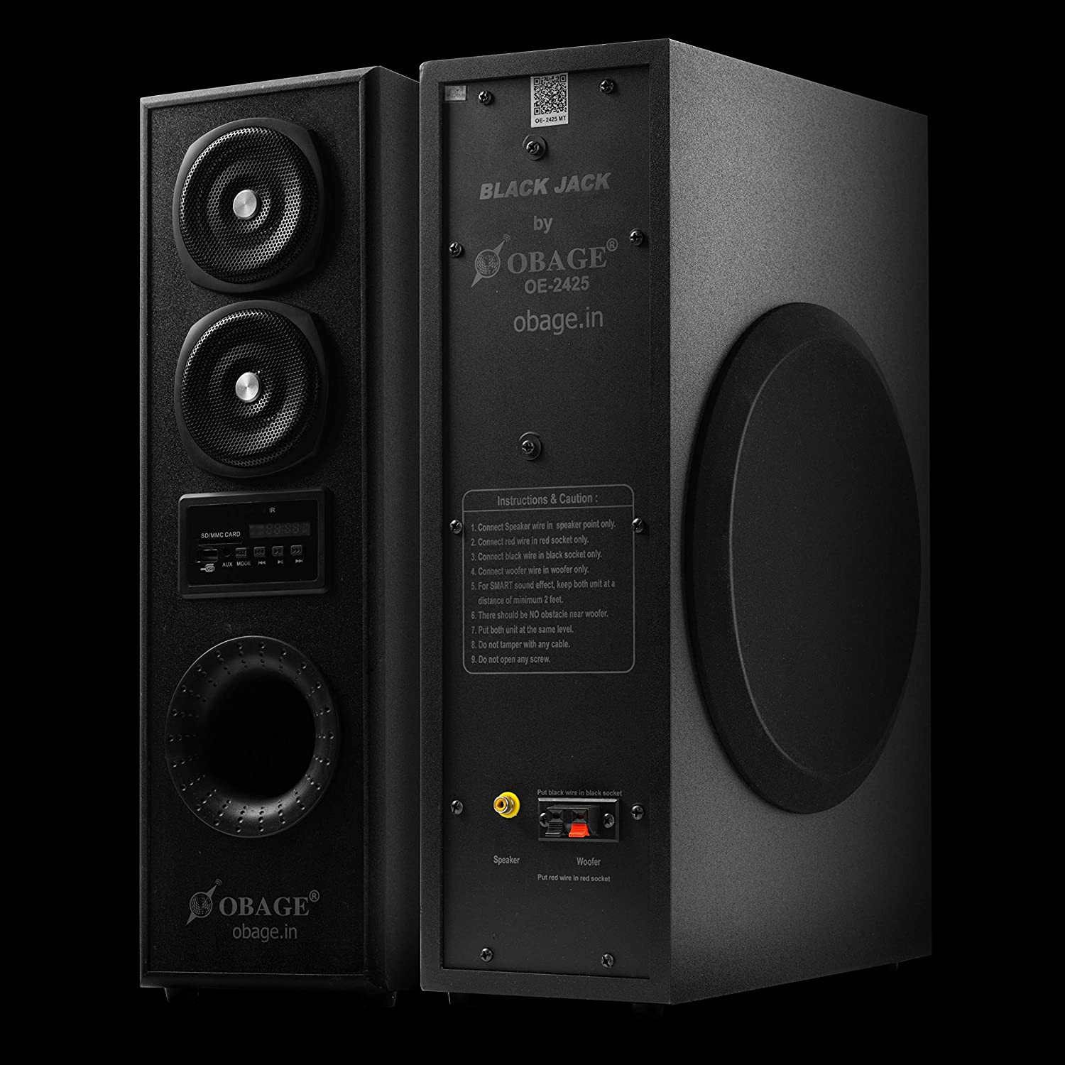 OBAGE DT-2425 Dual Tower Party Speakers