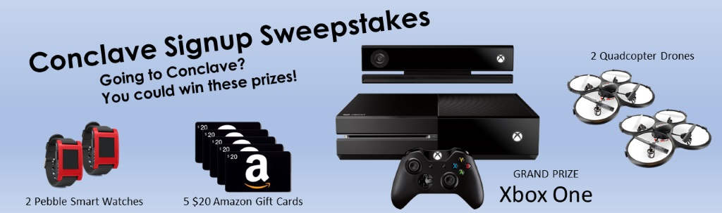 2015 Conclave Signup Sweepstakes