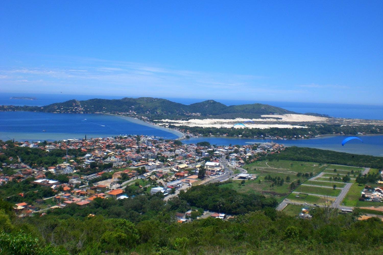 Foto da Lagoa da Conceição vista do Mirante.