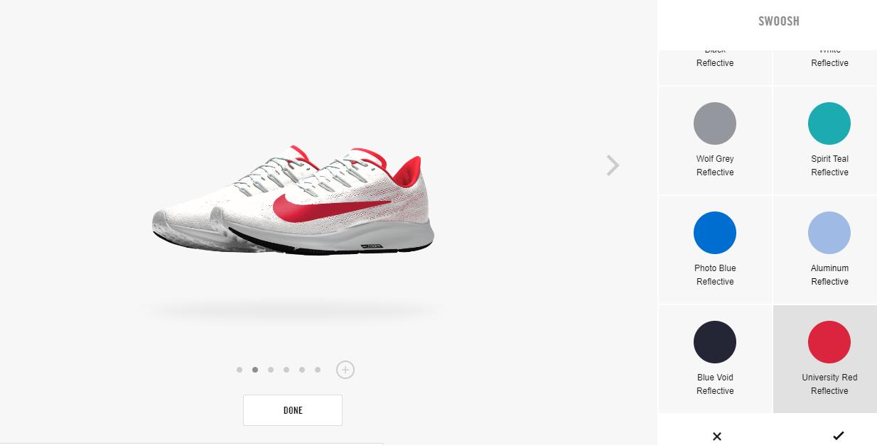 3D product rendering Nike