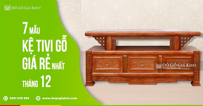 7 mẫu kệ tivi gỗ giá rẻ nhất tháng 12