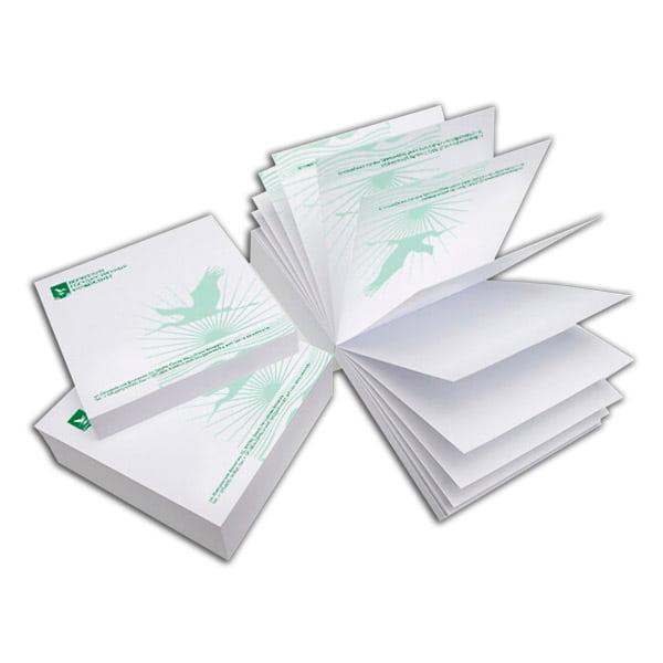 Бумажные блоки с клеевым скреплением, отрывные