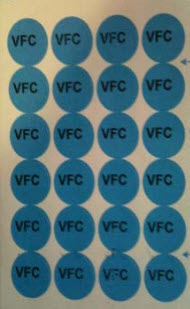Place these stickers on the vaccine in your storage unit to differentiate VFC and Private vaccine.