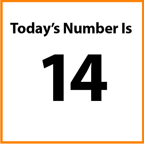 Today's number is 14.