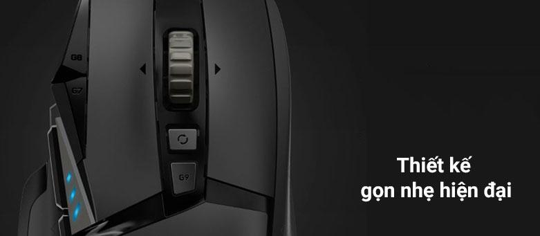 Chuột gaming Logitech G502 Hero K/DA | Thiết kế gọn nhẹ hiện đại