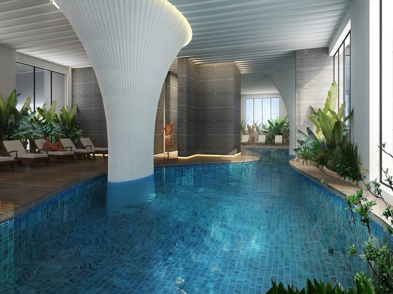 Thiết kế bể bơi hiện đại trong tòa nhà Gelexia Riverside.jpg