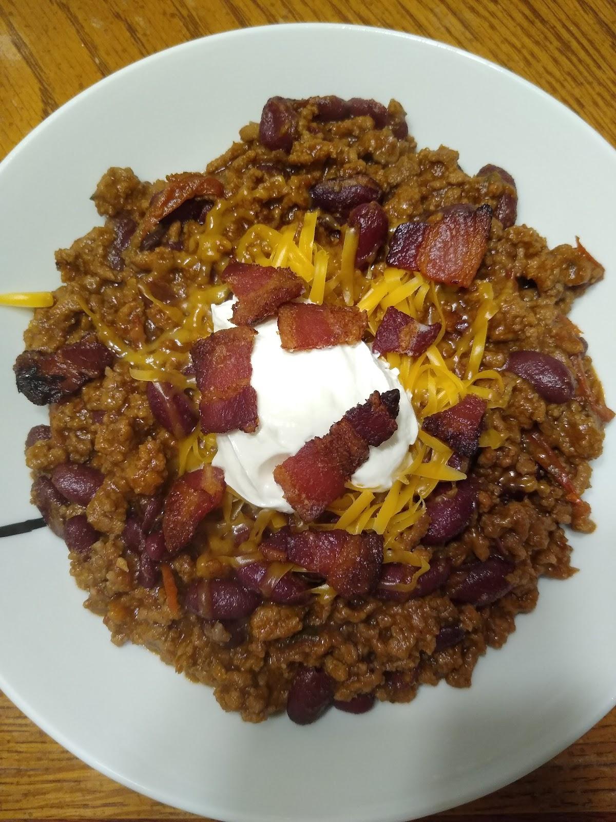 making homemade chili