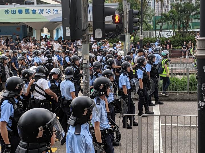 警察已經完全暴露自己身為保衛富豪資產的武裝部隊,並受到香港社會廣泛唾棄。//圖片來源:Studio Incendo