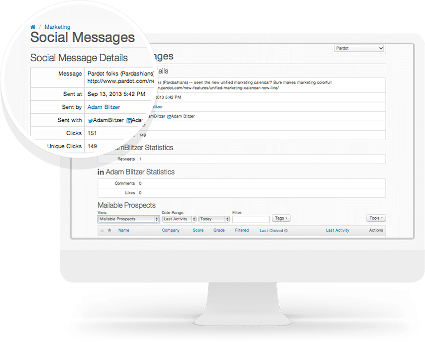 Social Posting and Profiling | A Comprehensive Pardot B2B Marketing Automation Guide | Concretio Apps | Salesforce Consulting Company