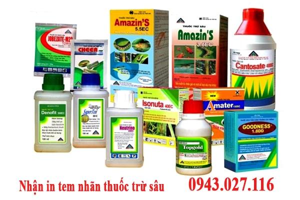 nhãn thuốc trừ sâu