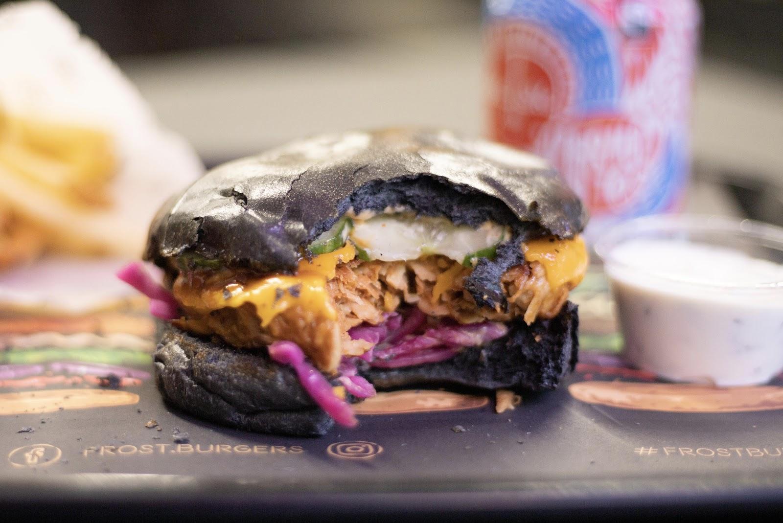 Halloween burger Liverpool Frost