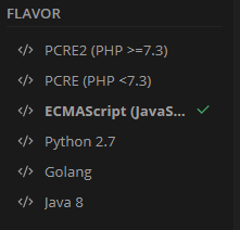 We select JavaScript as our language
