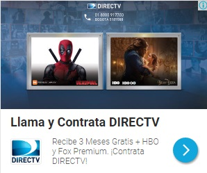 Anuncio Directv Responsivo Red Display