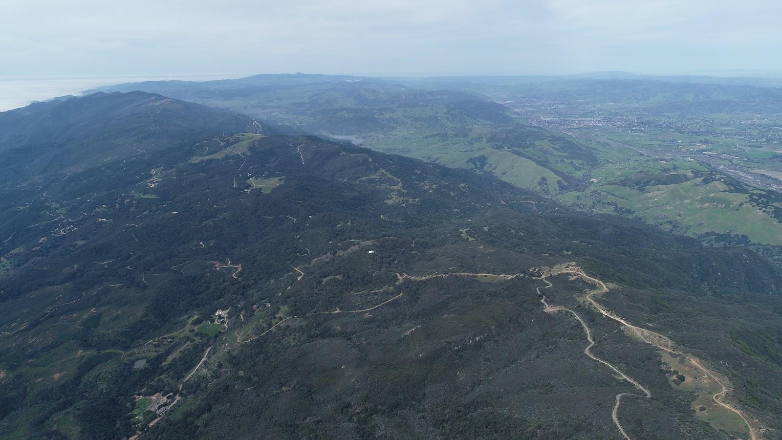 Aerial drone photo of Refugio Road Climb - W. Camino Cielo
