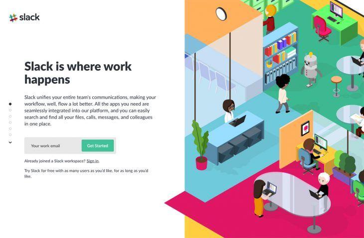SaaS marketing by Slack
