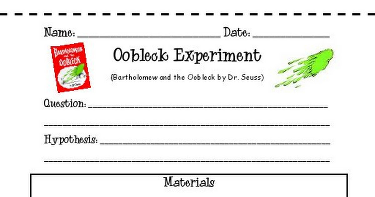 Oobleck Experiment Worksheetspdf Google Drive