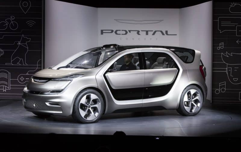 Chrysler Portal concept car from the 2017 CES