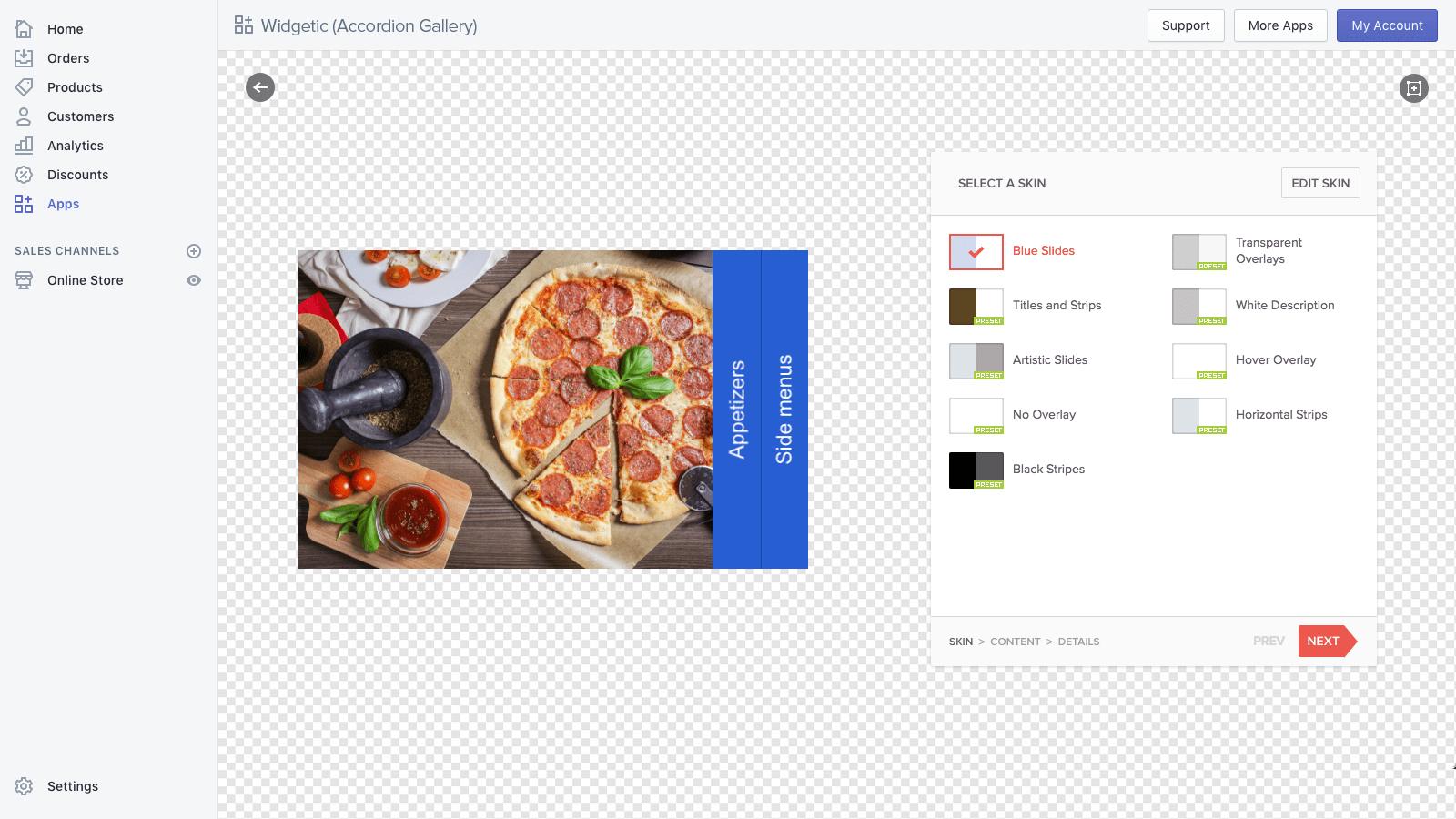 flawless Shopify menu app