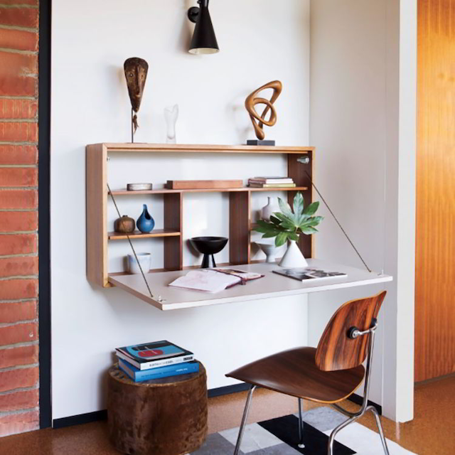 Bật mí các bàn làm việc gấp treo tường thịnh hành nhất hiện nay