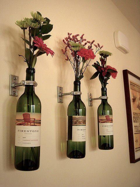 garrafa de vinho decoração
