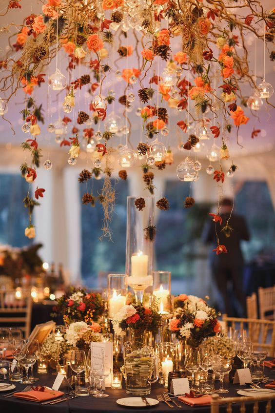 Five popular wedding themes for fall anya bridal wedding blog fall wedding table decorations junglespirit