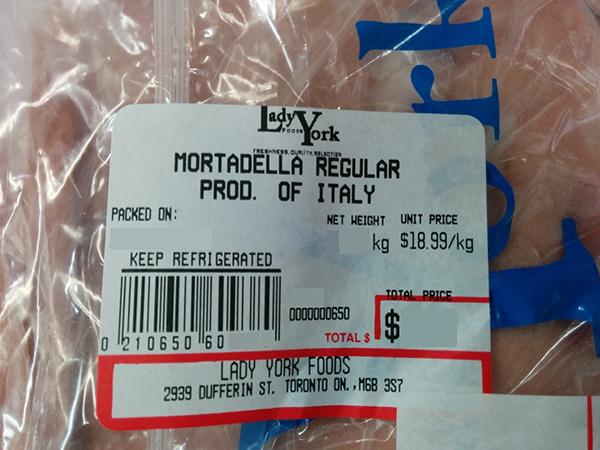 Mortadella Regular – Prod. of Italy