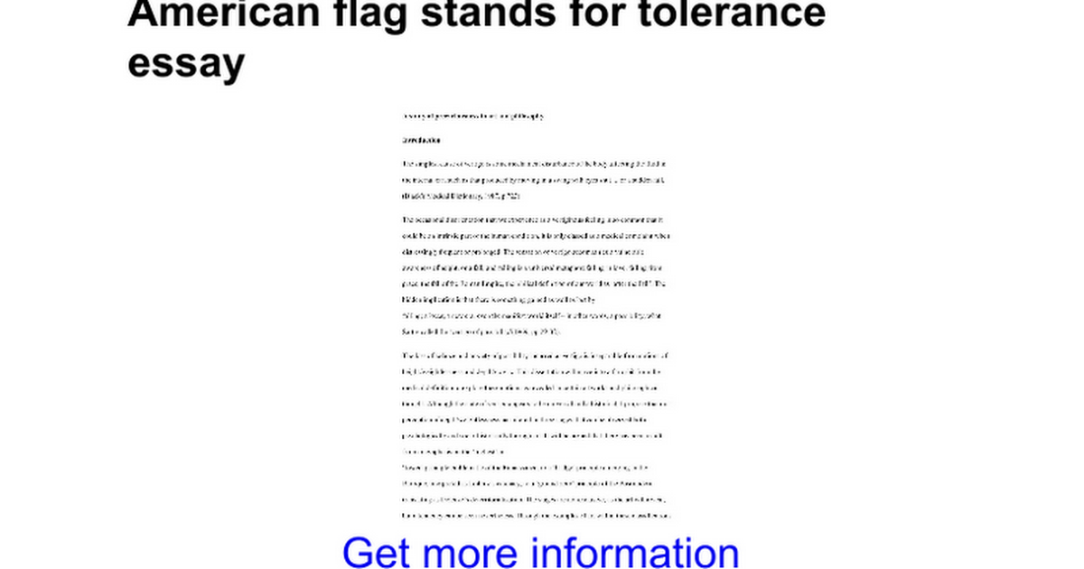 american flag stands for tolerance essay google docs
