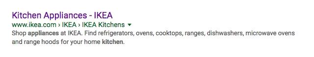 IKEA title Tag for Kitchecn Appliances