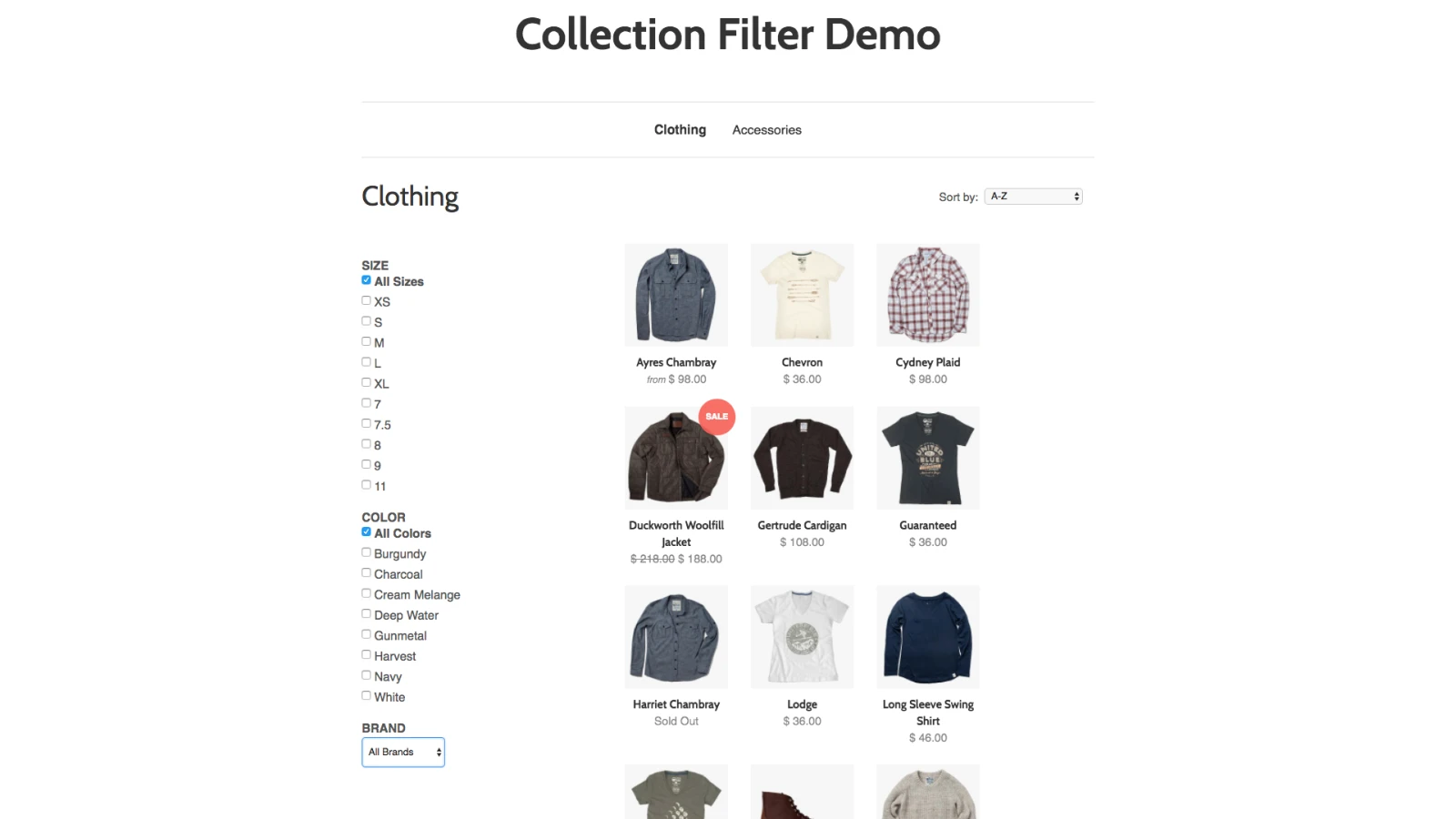 Collection Filter