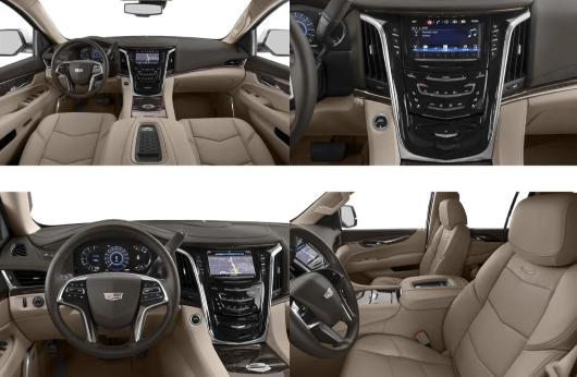 Foto do interior do Cadillac Escalade 2020