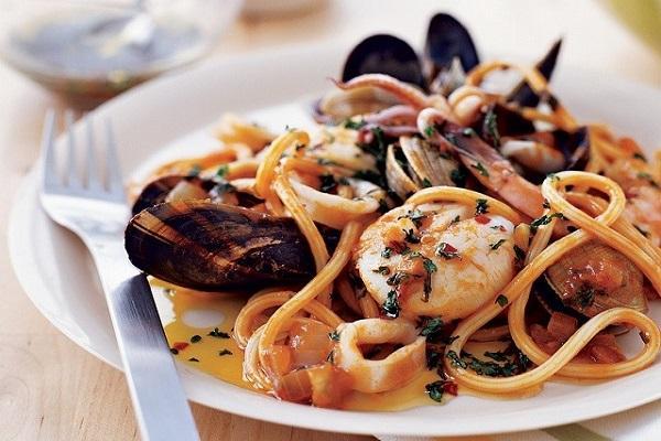 Mỳ ý xào hải sản - món ăn ngon bổ dưỡng