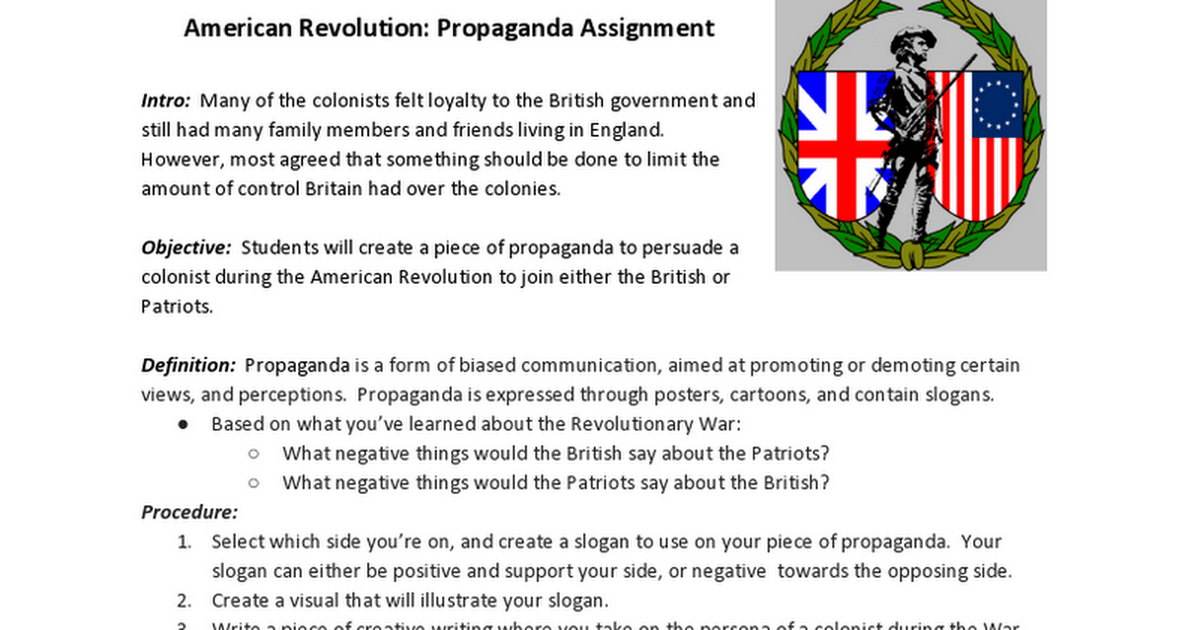 the negative view of the patriots towards the british Great britain was passing these laws because of the french and indian war,   parliament said it had fought the long and costly war to protect its american   trying to force the other to their views or at least to stop them from helping the  other side  when the patriots adopted their bill of civil rights before they  adopted their.