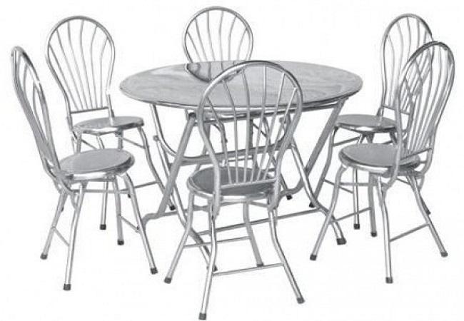 Kết quả hình ảnh cho đặc điểm của bộ bàn ghế inox tròn