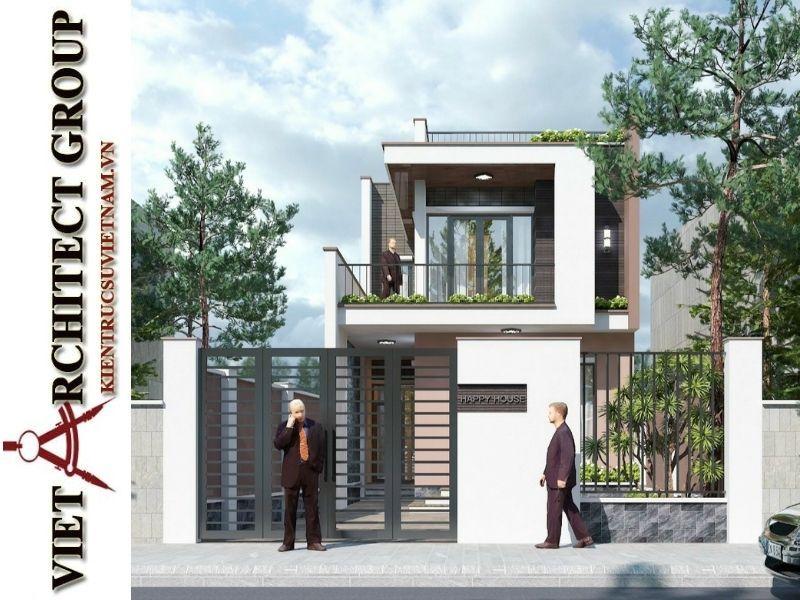 VIET ARCHITECT GROUP Thiết kế và thi công trọn gói nhà 2 tầng đẹp giá 700 triệu