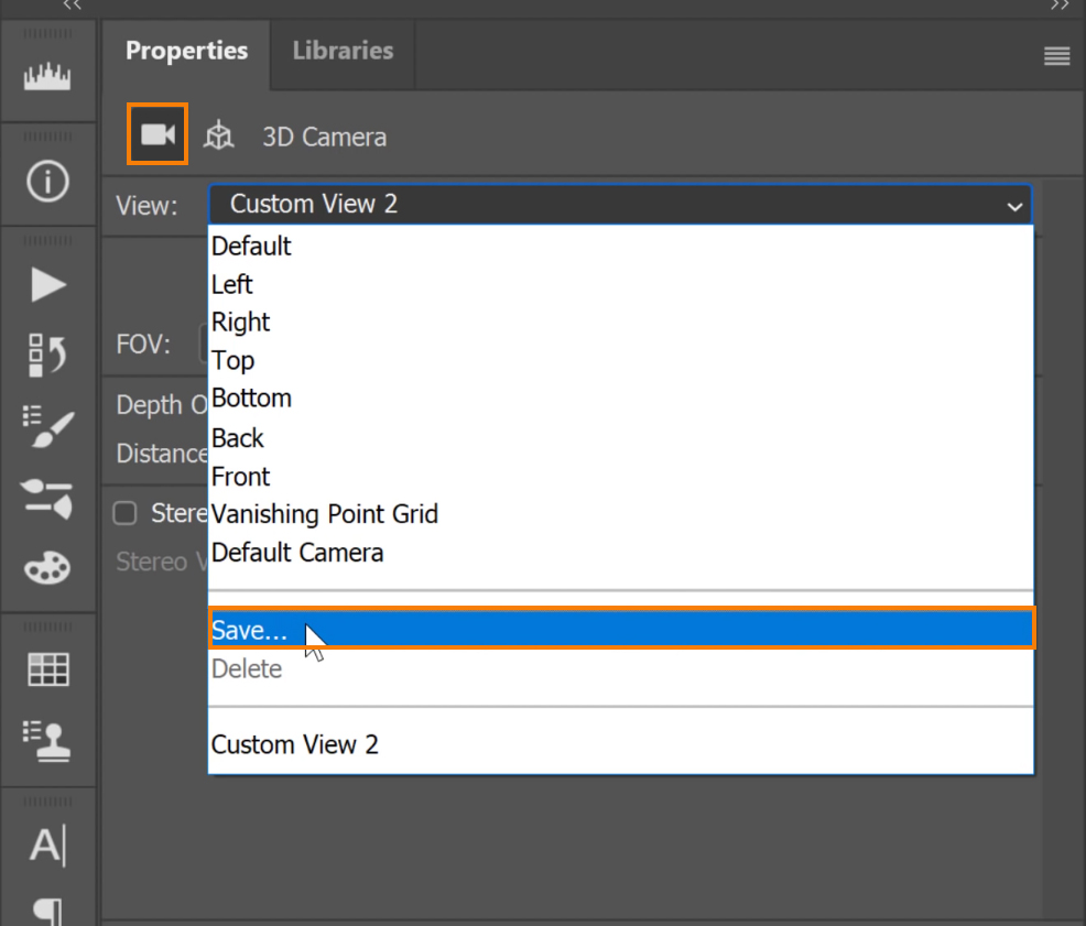 Click on the View drop-down menu and select Save. On the New 3D View window, type in the name of the view