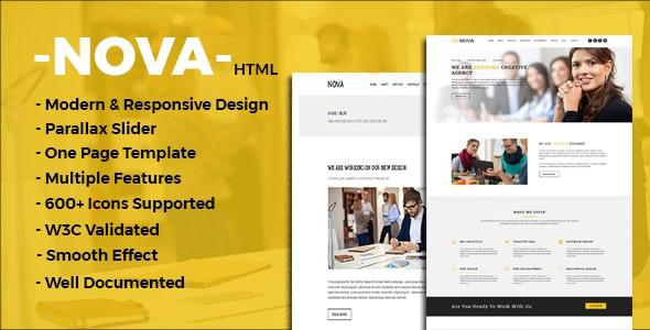 Nova - One Page Multipurpose Template by templateHut | ThemeForest