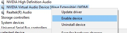 Enable sound driver
