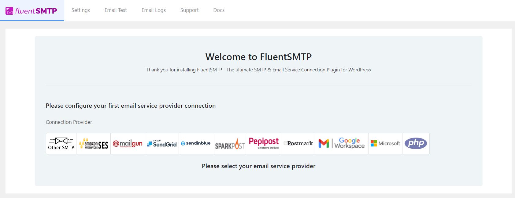 fluentsmtp email configuration