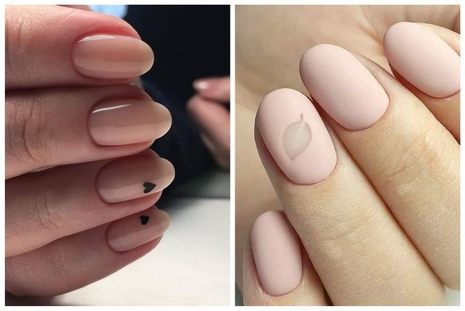 nude manicure on nails