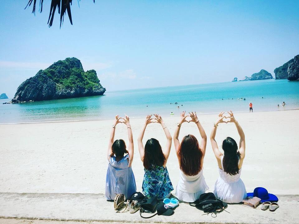 bãi biển cát cò - Cát Bà