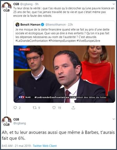 CGB Twitter réponse à Benoit Hamon